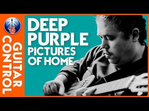 Deep Purple Guitar Lesson: How to play Pictures of home on Guitar - Rock Blues Guitar Riff
