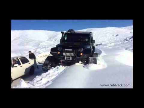 Jeep Wrangler on tracks  - Rubtrack SUV Track Conversion System