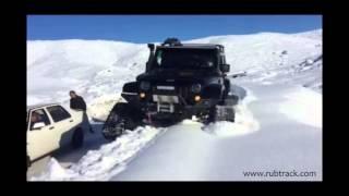 Jeep Wrangler on tracks  - Rubtrack SUV Track Conversion System