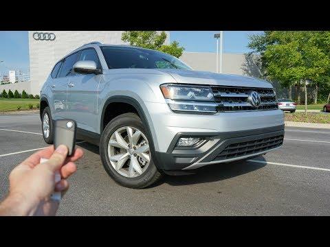 2018 Volkswagen Atlas SE: Start Up, Test Drive, Walkaround and Review