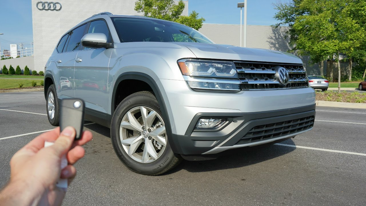 2018 Volkswagen Atlas SE: Start Up, Test Drive, Walkaround and Review - YouTube