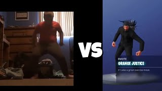 New Fortnite Orange Justice Emote In real Life Orange Shirt Kid Fortnite Battle Royale