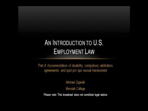 An Introduction to US Employment Law (part 4)