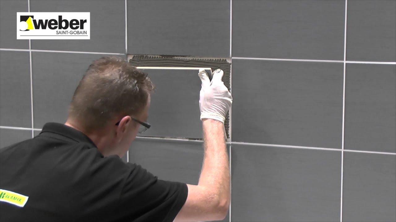 Tegels Badkamer Repareren : Repareren van een tegel weber easyrepair tegel steen reparatie