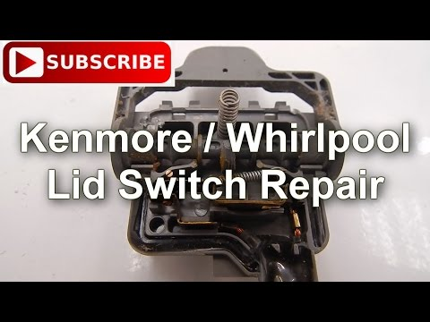 Washer lid switch part wp8318084 how to replace doovi for Kenmore washer motor reset