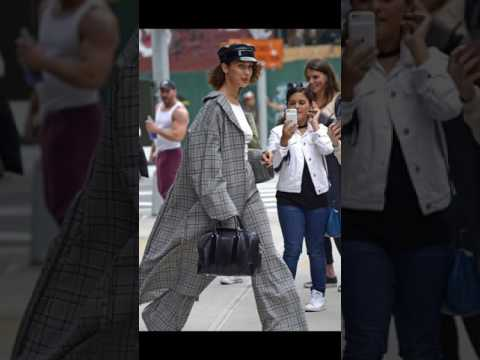 Bella Hadid leaving Gigi's apartment in Manhattan.