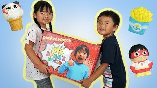 Ryan ToysReview Sent Me Free Toys | New Squishy  from Ryan's World Toys Collection