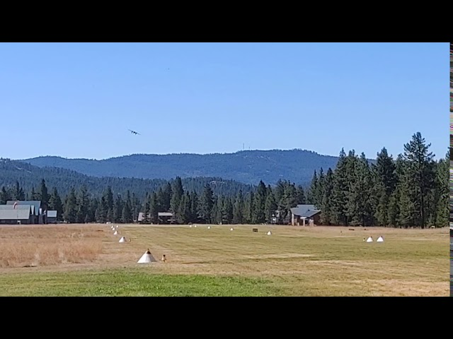 B-25 Seeley Lake Airport fly over 8-10-2020