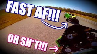 YAMAHA R1 TEACHES ZX6R A LESSON LIKE A BOSS!