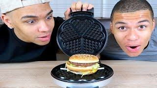 EXPERIMENT - BIG MAC VS WAFFELEISEN !!! | PrankBrosTV