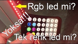rgb led mi? tek renk led mi? Is it a RGB or single color LED?