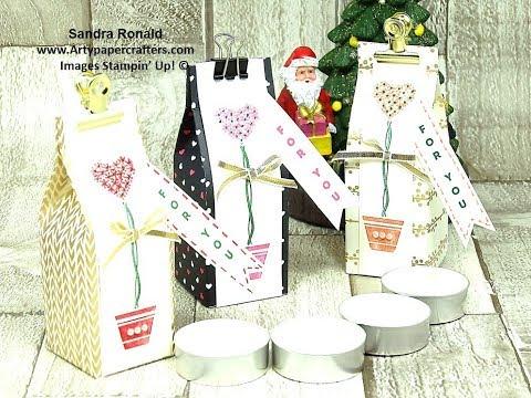 #20 Advent Gift Box for Perfumed Tea Lights - SandraR Stampin' Up! Demonstrator Independent