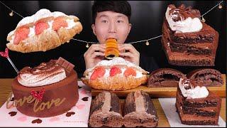 [SUB]생초코케이크, 초코에끌레어, 딸기생크림크루아상…