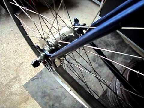 83 Nishiki bicycle VI. Checking the chain line.