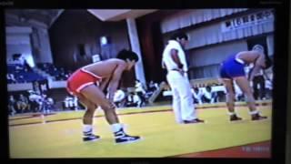 1990年全国中学生レスリング選手権大会 51kg級 9回戦 vs十文字 貴信