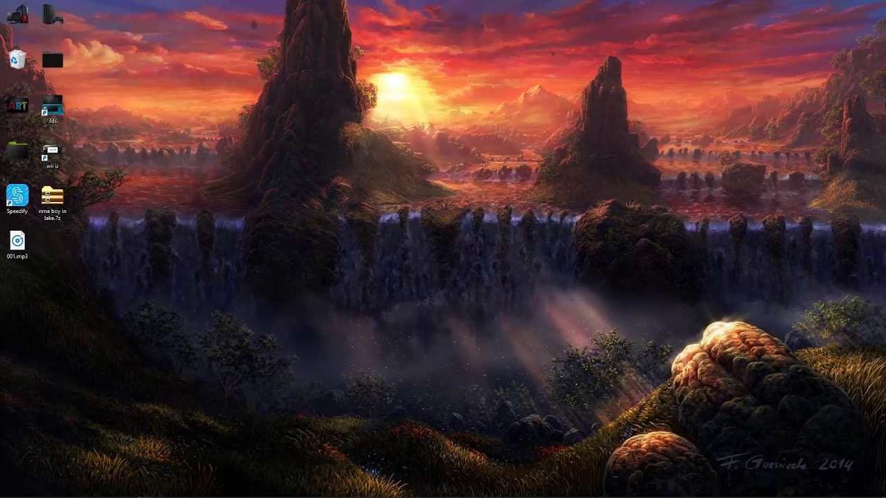 Waterfall Sunset Live Wallpaper Free Download Youtube