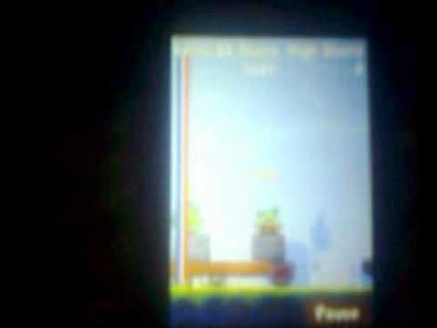 angry birds on samsung corby2 . (part2).wmv