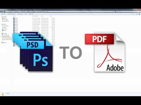 Multiple PSD Files To PDF/Adobe Photoshop CS6