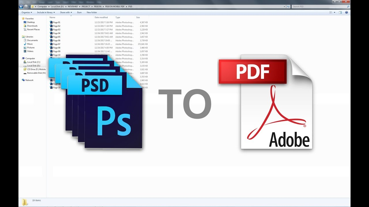 How to save multiple photoshop files as one pdf