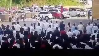 VIRAL (Actual CCTV footage) Mayor Halili shot dead during flag ceremony
