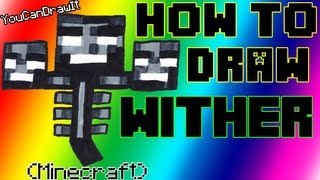 How To Draw Wither from Minecraft ✎ YouCanDrawIt ツ 1080p HD