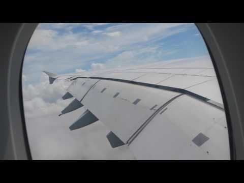 lufthansa a380 heavy landing shanghai