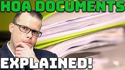 What You Need to Know About HOA Documents!