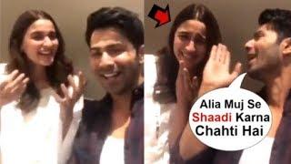 Varun Dhawan FLIRTS With Alia Bhatt On LIVE Video Chat Announcing Kalank Trailer Launch