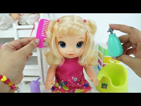 Baby Alive Maria Clara Aprendeu usar Peniquinho e Lavando as Mãos Lançamento Baby Alive