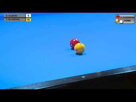 Torbjorn Blomdahl vs Nalle Olsson   Final SM Carambole 2017   YouTube