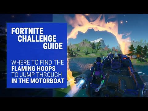Fortnite Challenge Guide - How To Complete The Flaming Hoops Challenge