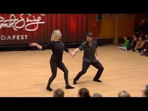 Improv West Coast Swing Dance - Ben Morris & Victoria Henk - Budafest 2020 Pro Show