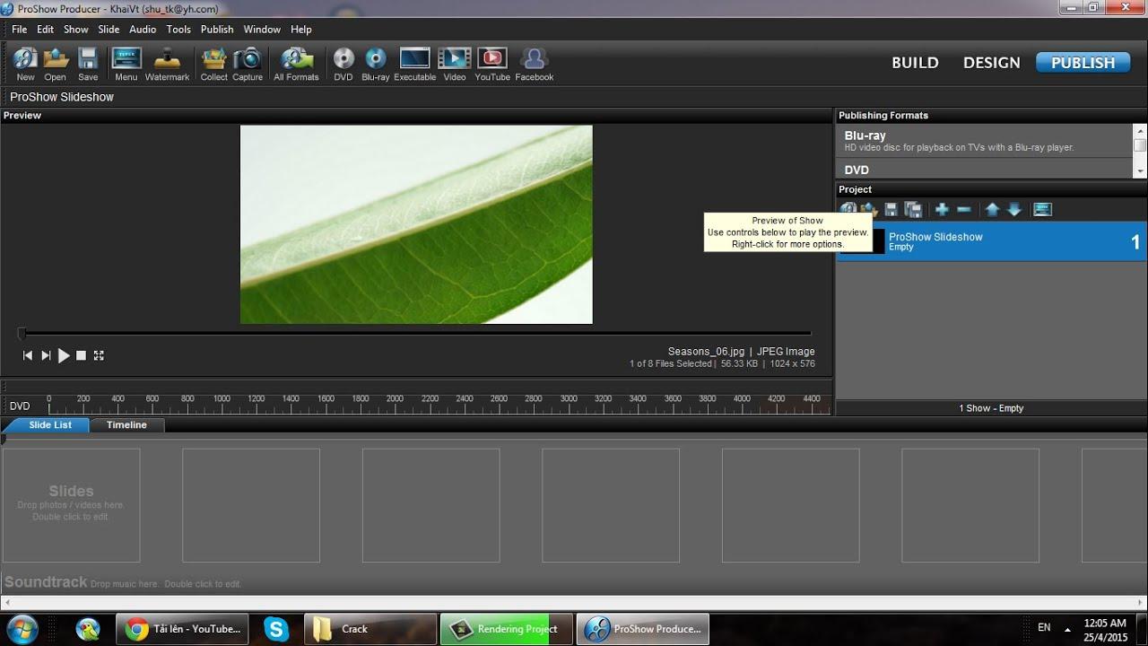 Hướng dẫn sử dụng phần mềm Proshow Procducer để tạo video trình diễn ảnh