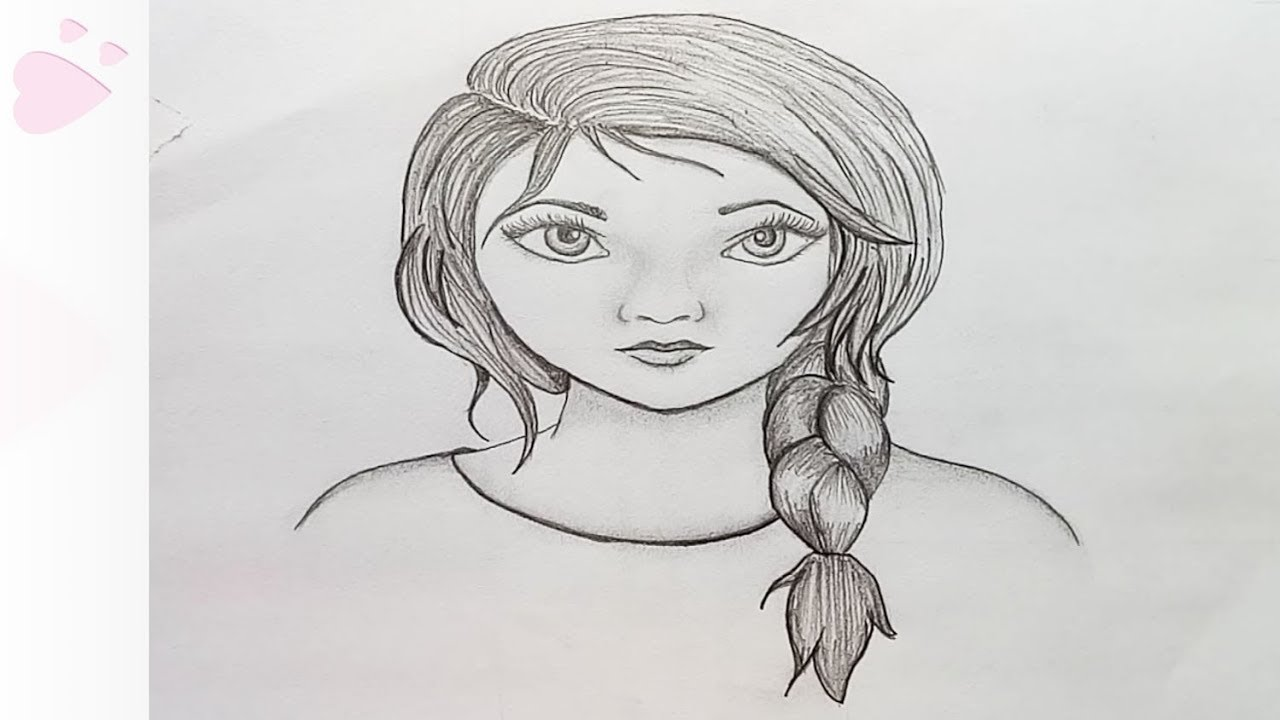 How to draw girl face step by stepeasy draw