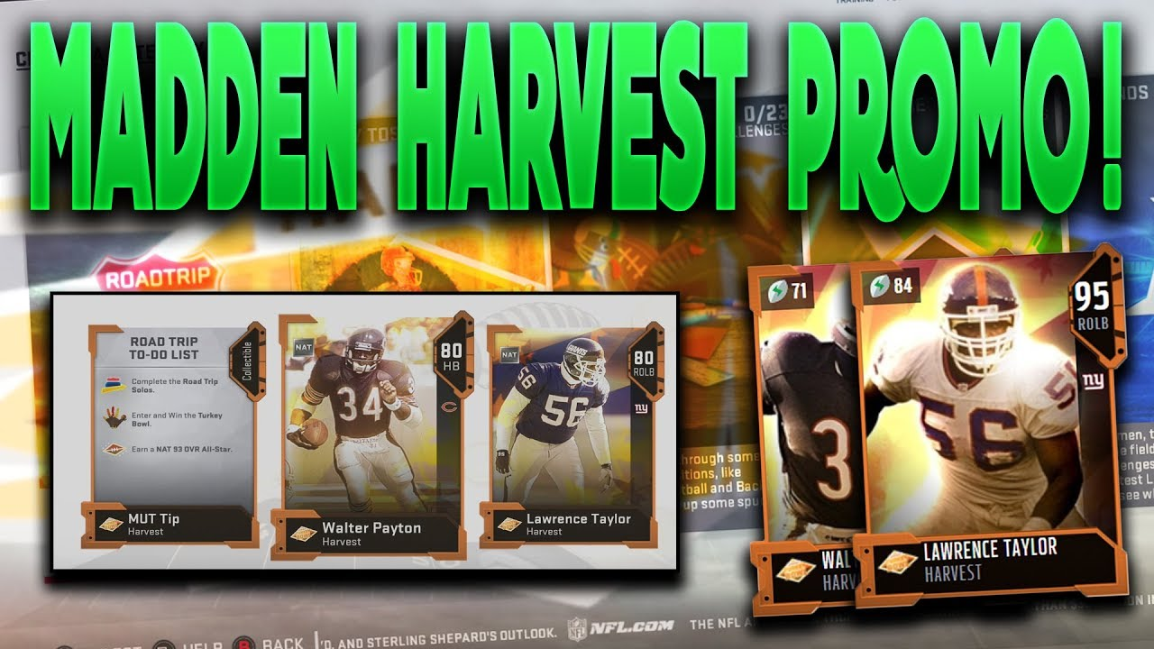 Mut 19 harvest promo is live free 93 player from solos 95 lt and walter payton master madden - Walter payton madden 15 ...