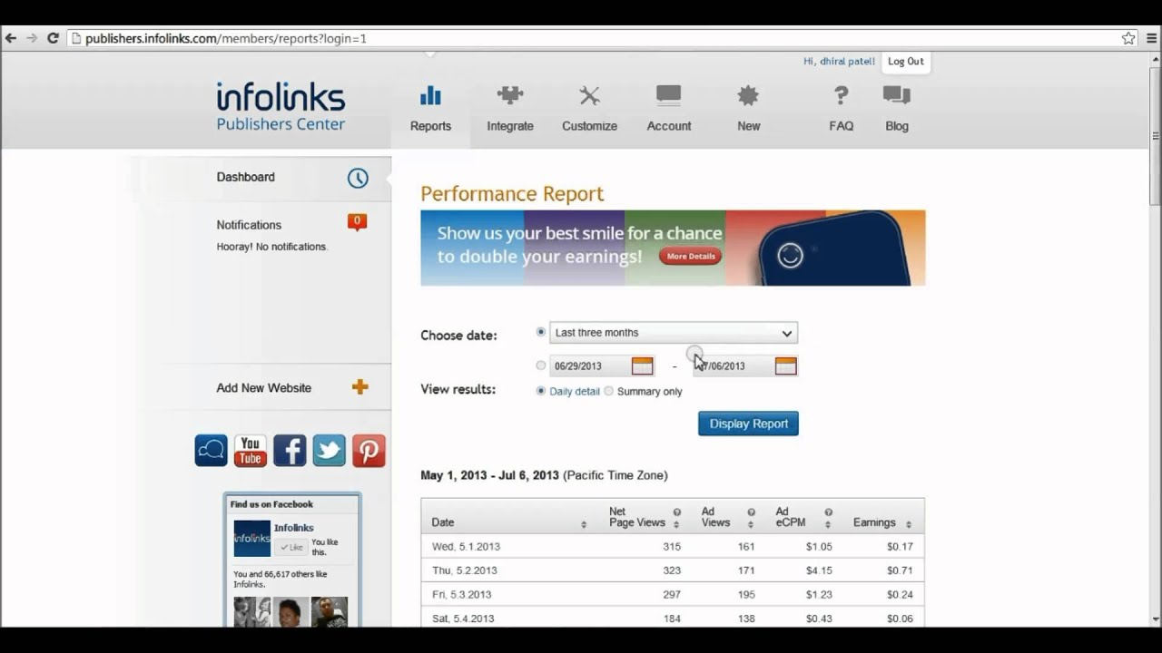 Infolinks Review And Earning Report 2013