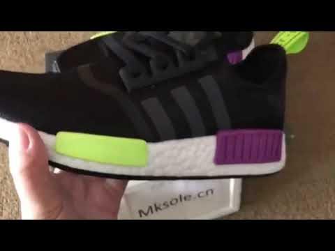 Adidas NMD Black Purple Green (mksole
