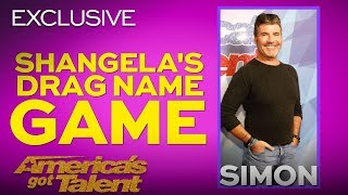 Shangela Gives Daddy-licious Drag Name To Simon Cowell - America's Got Talent 2018