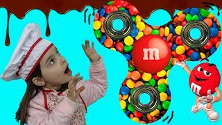 FIDGET SPINNER DE CHOCOLATE E M&M'S PARA CRIANÇAS DIY CHOCOLATE M&M'S FIDGET SPINNER FOR KIDS MMS
