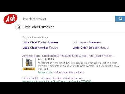 Little Chief Smoker Instructions Youtube