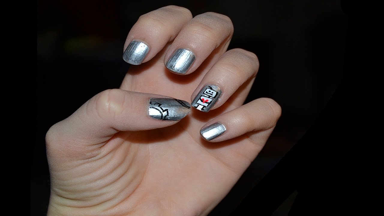 Robot nail art. Unghie robot - YouTube