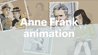 Animation of Anne Frank, the graphic biography