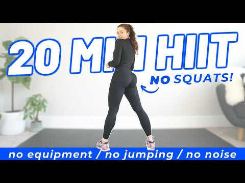 20 MIN KNEE-FRIENDLY HIIT WORKOUT (No Squats, Low Impact Cardio)