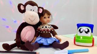 Английский для детей! Учим английский язык с Мэри! Обучающее видео - английские слова - обезьянка!(Развивающая передача для малышей - Учим английский язык с Мэри! Продолжаем изучать новые английские слова..., 2015-03-03T07:00:00.000Z)