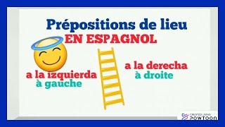 Prepositions De Lieu En Espagnol Comment Se Situer Dans L Espace En Espagnol Facile Youtube
