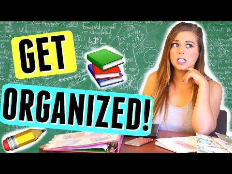 10 ORGANIZATION TIPS FOR SCHOOL! LIFE HACKS FOR ORGANIZATION + GET ORGANIZED BACK TO SCHOOL!