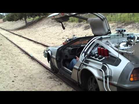 Delorean on Train Tracks...