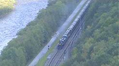steam Locomotive 425 comes through Penn Haven Junction