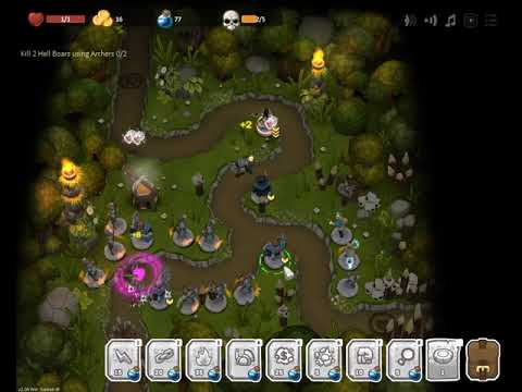 Warstone TD - At a Rest Stop Survival Silver - Hell boars with archer |