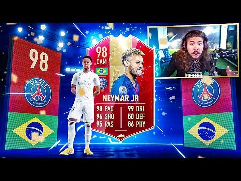 OMG 98 TOTS NEYMAR PACKED IN WL REWARDS!! 50 RED PLAYER PICKS!! FIFA 19